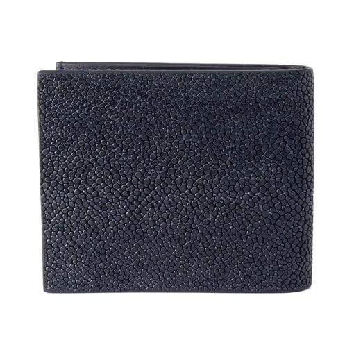 portefeuille clip galuchat navy 2