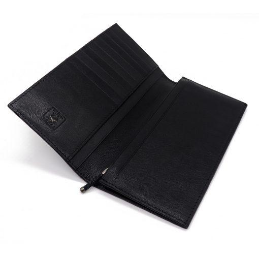 portefeuille long galuchat poli noir wp006 2
