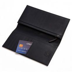 portefeuille long galuchat poli noir wp006 3
