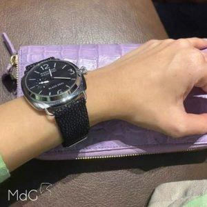 bracelet galuchat panerai black seal