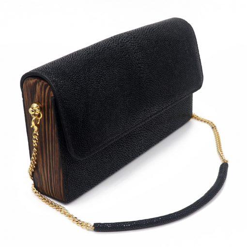 petit sac galuchat noir 1