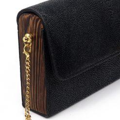 petit sac galuchat noir 5
