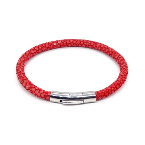 bracelet jonc galuchat rouge mdg 1