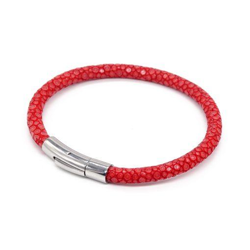 bracelet jonc galuchat rouge mdg 2