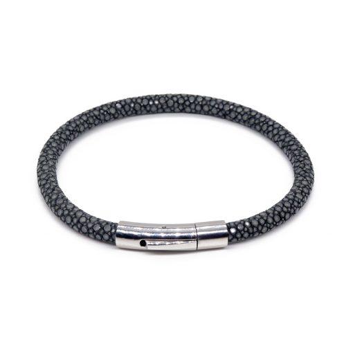 bracelet jonc galuchat steel mdg 1