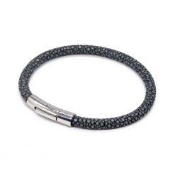 bracelet jonc galuchat steel mdg 2