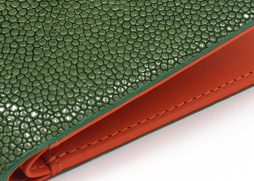 portefeuille galuchat signature mdg emeraude limited 5