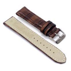 bracelet montre crocodile alligator marron havane 2